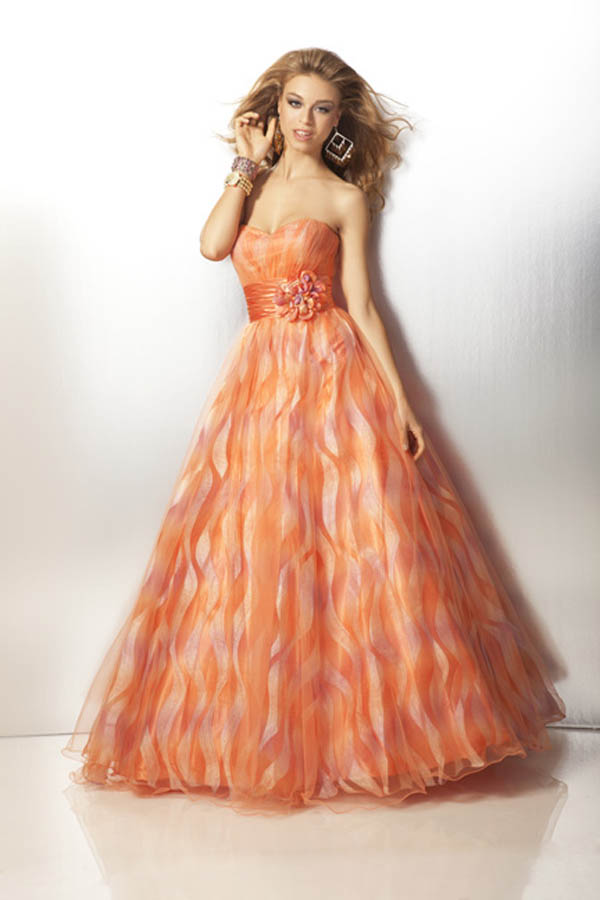 Multi Color Strapless Clarisse Ball Gown 17176