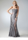 Strapless Sequin Embellished Prom Dress 17164