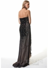 Elegant Sheer Terani Strapless Gown 1521