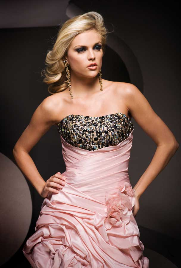 Tony Bowls prom dress 11069 - Pink and Leopard formal dress ...