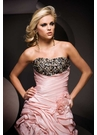 High Low Pink and Leopard Party Dress 11069