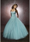 Mori Lee Aqua Ball Gown 86023