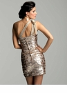 Metallic Cocktail Dress 2042