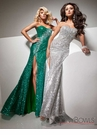Silver Prom Gown 113705 by Tony Bowls