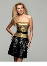 2012 Black and Gold Clarisse Dress 2053