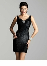 Black Sequin Cocktail Dress 2054