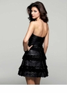 Black Strapless Leather Dress 2056