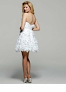 Short White Embellished Formal Dress c2014