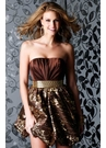 Strapless Bubble Skirt Formal Dress 1406