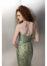 Green and Silver Embellished Prom Gown 17183