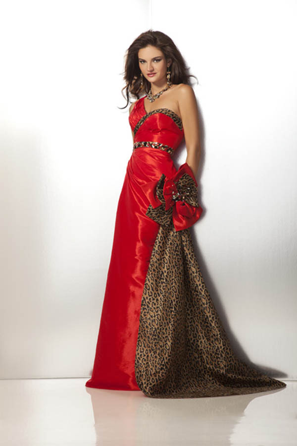 Clarisse 2012 Red and Leopard Prom Dress 17185