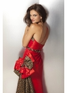 Red and Leopard Formal Dress 17185
