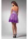 Short Purple Flower Prom Dresse 1561