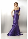 One-Shoulder Charmeuse Prom Dress 17108