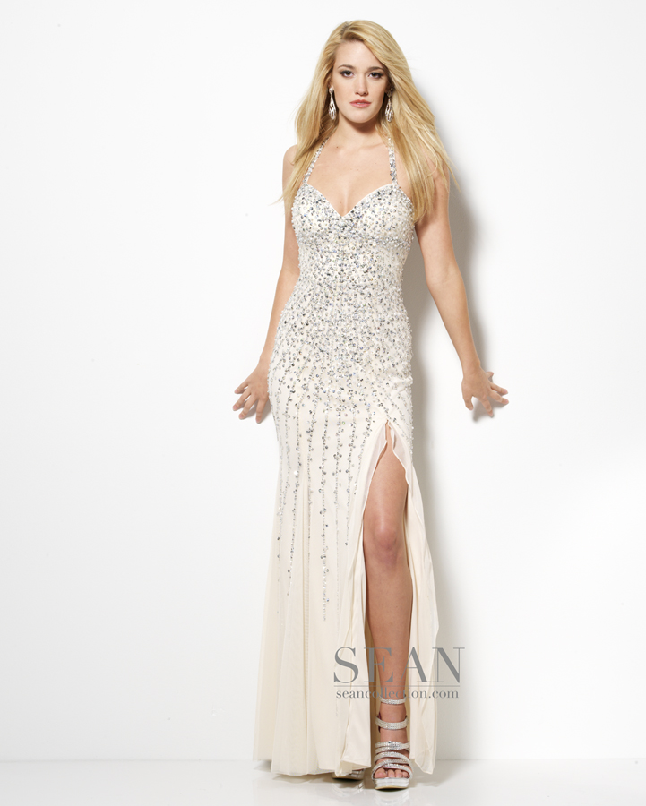 Prom Dress Champagne Sean Collection