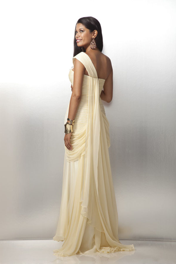 Grecian Style 2012 Prom Dress 17120 with Side Drapes