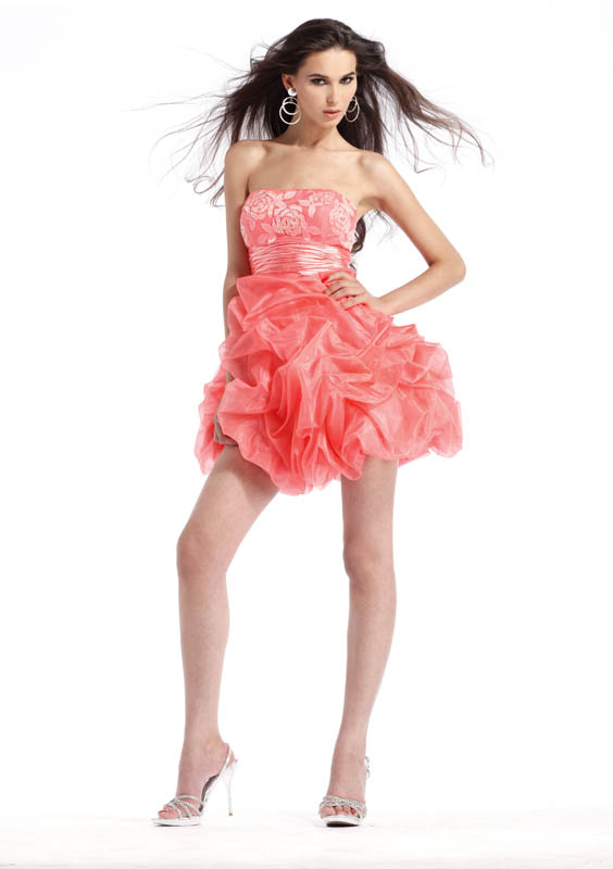 Coral Yellow Or Mint Short Clarisse Prom Dress 1336