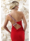 Red One Shoulder Gown 71232 By Sparkle