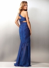 One Shoulder Cut Out Chiffon Prom Dress 17168