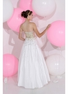 Ivory and Gold Ball Gown 71175 by Sparkle Prom