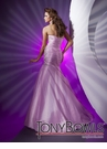 Pink Ruched Mermaid Prom Dress 112520 by Tony Bowls