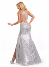 Party Time Formals Silver Prom Gown 6079