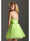Strapless Lime Green Homecoming Dress 2213