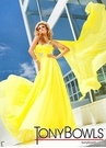 Tony Bowls Long Yellow Gown 11207