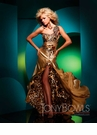 Gold and Leopard Prom Dress 111701 by Tony Bowls