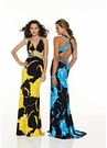 Bold Print Mori Lee Prom Dress 8527