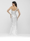 White & Silver Prom Gown 2103 By Clarisse