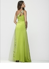 One Shoulder Sheer Prom Gown 2146