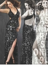 Mac Duggal Halter Sequin Prom Dress 3419