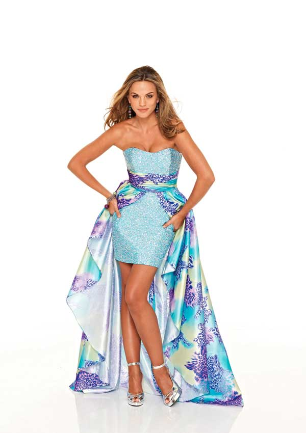 Mori Lee Prom Dress 8547 turns into a cocktail dress!