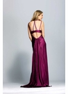 Wine Charmeuse Evening Gown 906
