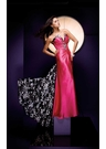 Tony Bowls Fuchsia and Print Prom Dress 110716