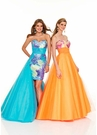 Mori Lee Prom Dress with Overskirt 8418