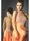 Mac Duggal Orange Prom Dress 81428