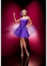 Short Purple Party Dress 110583 by Tony Bowls
