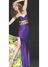 Mac Duggal Purple Print Prom Dress 6022