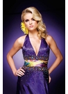 Purple Print Tony Bowls  Prom Dress 110745