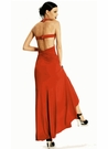 Orange Jersey Knit Evening Gown 9121