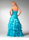 Ruffled Drop Waist Prom Dress 1535