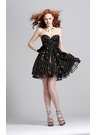 Black and Gold Short Formal Dress 1303