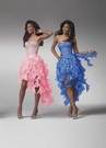 Ruffle High Low Prom Dress 1519