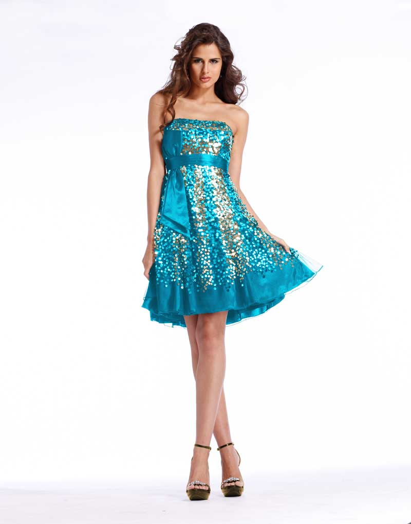 Short blue or black Clarisse Prom Dress1337 with sequins