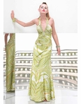 Alyce Green Print Prom Dress 35291