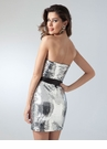Silver Sequin Cocktail Dress 1656