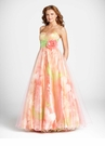 Orange Floral Ball Gown 5029 by Blush