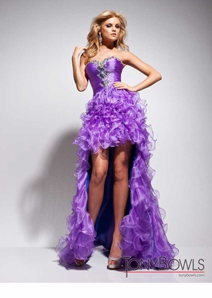 Tony Bowls 2013 Orange Purple Turquoise Strapless Sweetheart ...